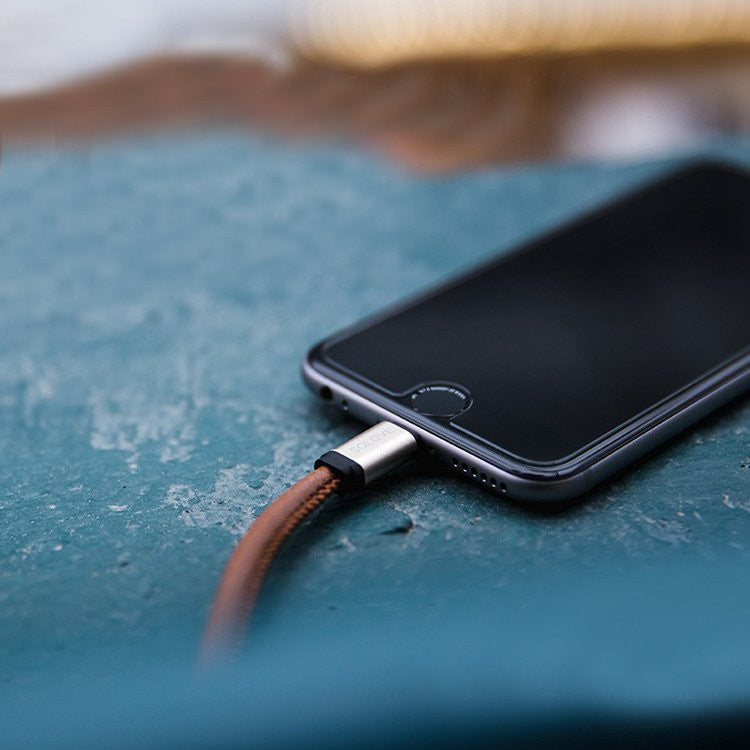 Leather Lightning Cable - Feedfend - fistcase