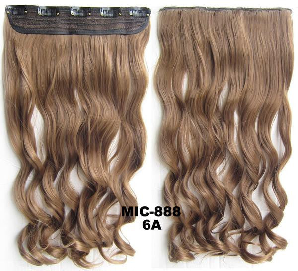 Bath & Beauty 5 Clip in synthetic hair extension hairpieces wavy slice curly hairpiece MIC-888 6A,Hair Care,fashion Cosplay ombre 1PC - Feedfend - fistcase