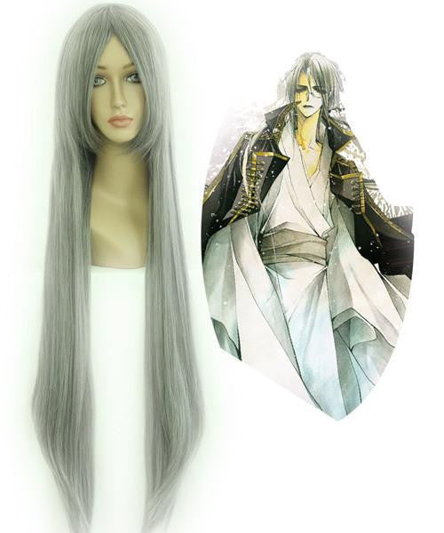 80cm LONG WIG Changan unreal night Gray Cosplay Costume Wig,Colorful Candy Colored synthetic Hair Extension Hair piece 1pc WIG-017A - Feedfend