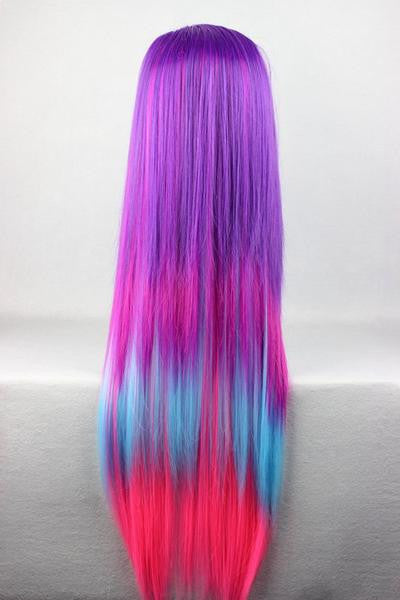 Straight Multi Rainbow Color Anime Women Wig - Feedfend - fistcase