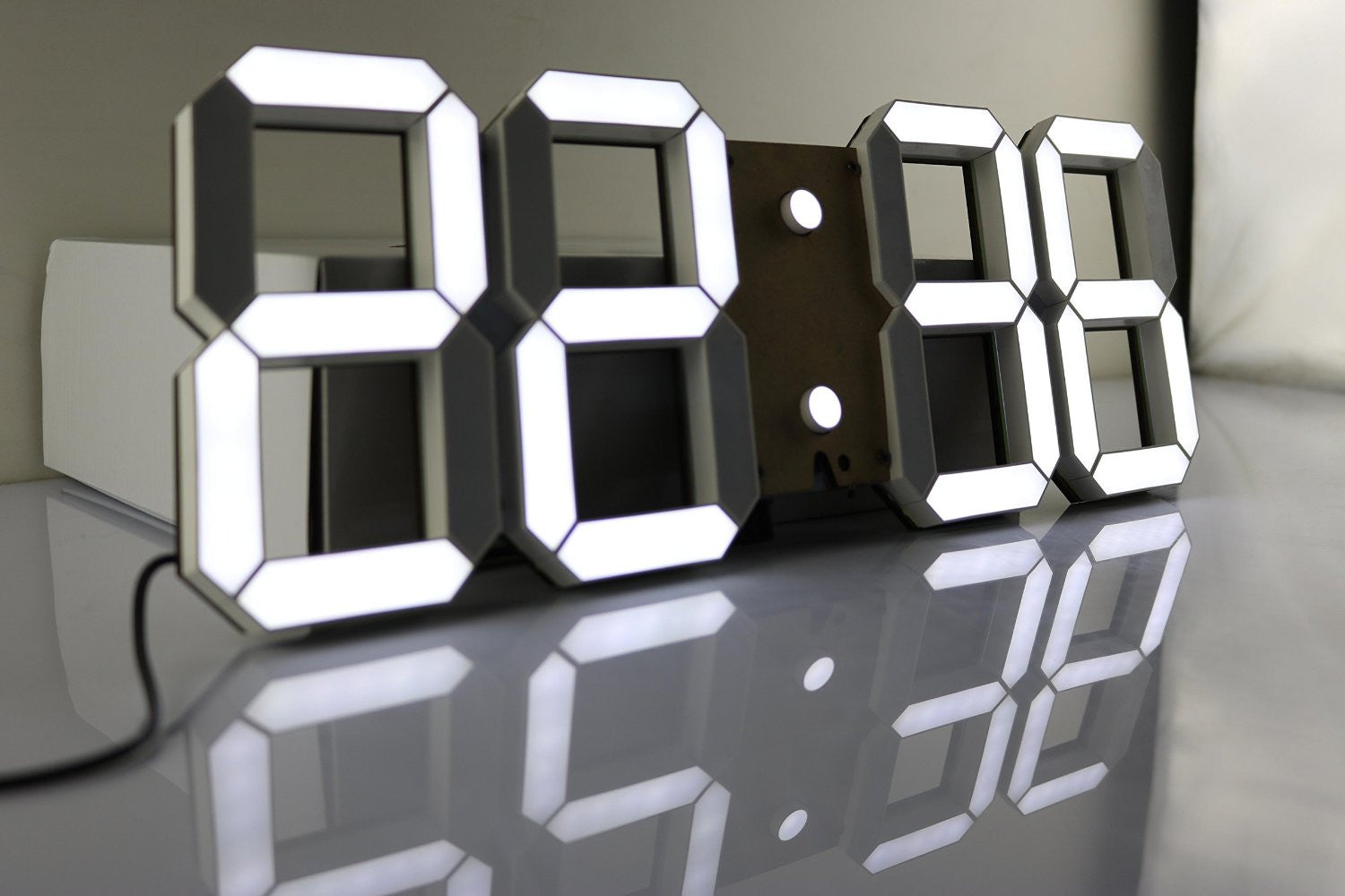 Multi Functional Remote Control Large Led Digital Wall Clock With How To Build 28 Timer Countdown Temperature Date Modern Design Black Back Ground