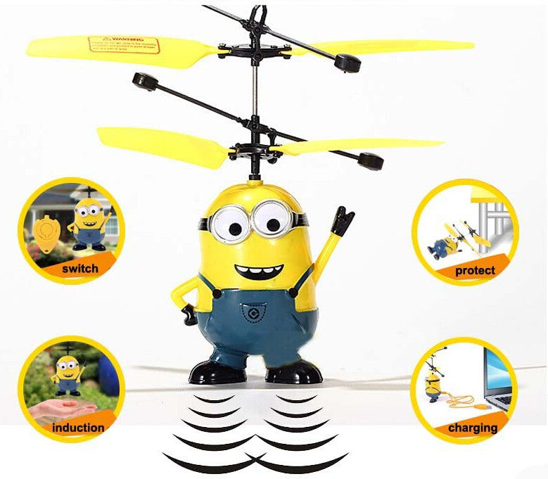 Toys dolls Minions toys RC helicopter Action  Flying fairy Drones - Feedfend