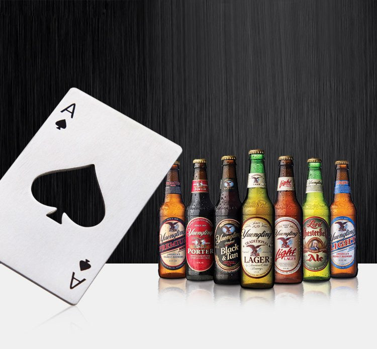 Poker Bottle Opener - Feedfend