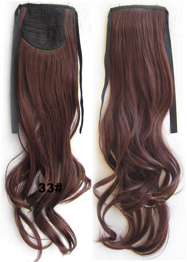 RP-888 wavy Kinky Curly hair,Wig Hairpiece,Ribbon Ponytail,synthetic hair wig,womanwigs,wig hairs,Accessories,Heat Resistance Synthetic Hair - Feedfend - fistcase