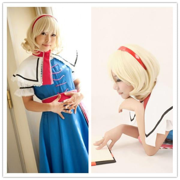 APH France Francis Bonnefoy Hetalia Halloween Cosplay Wavy Blonde Short Bob Wigs,Colorful Candy Colored synthetic Hair Extension Hair piece 1pc WIG-004A