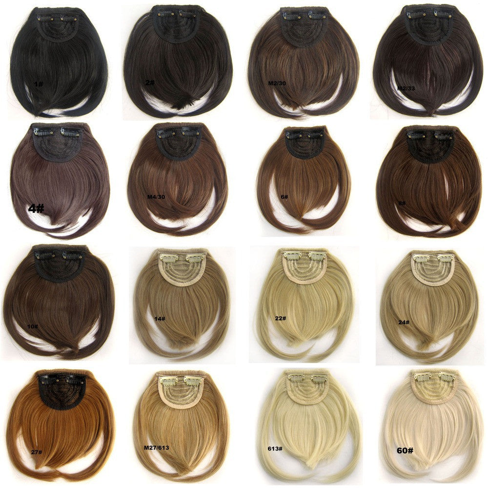 Clip in on synthetic hair bang B3 front neat Heat Resistance  hair fringe hair frinde  20 colors available,30g, 1pc - Feedfend