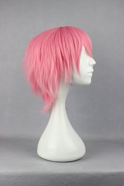32cm Short Bleach Szayel AporroGranz PINK Anime Cosplay Wig synthetic short wig,Colorful Candy Colored synthetic Hair Extension Hair piece 1pc WIG-263A - Feedfend
