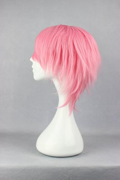 32cm Short Bleach Szayel AporroGranz PINK Anime Cosplay Wig synthetic short wig,Colorful Candy Colored synthetic Hair Extension Hair piece 1pc WIG-263A - Feedfend - fistcase
