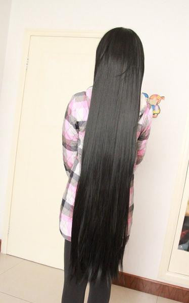 Black Long Wig Candy Colored - Feedfend - fistcase
