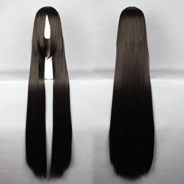 Straight Synthetic Long Black Wig - Feedfend
