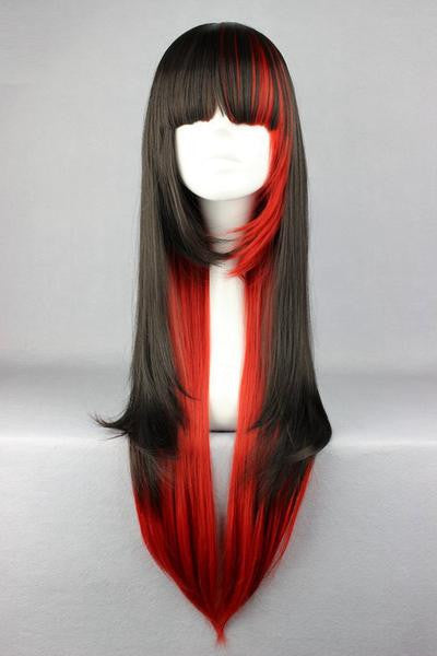 Long Red &Black Beautiful Anime Wig - Feedfend