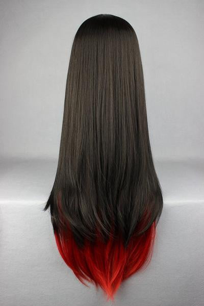 Long Red &Black Beautiful Anime Wig - Feedfend - fistcase