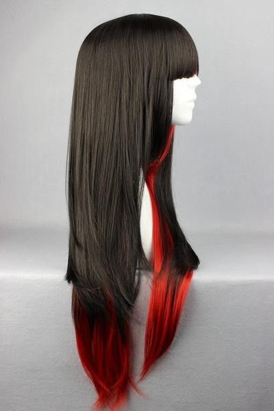 Long Red &Black Beautiful Anime Wig