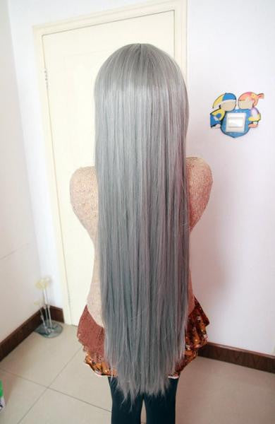80cm long cosplay anime Changan unreal night cosplay synthetic lace front wig,Colorful Candy Colored synthetic Hair Extension Hair piece 1pc WIG-017A - Feedfend