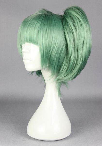 Assassination Classroom-Kayano Kaede green cosplay costume wig with 2 ponytails factory price 30cm short dark green cosplay wigs,Colorful Candy Colored synthetic Hair Extension Hair piece 1pc WIG-575C - Feedfend