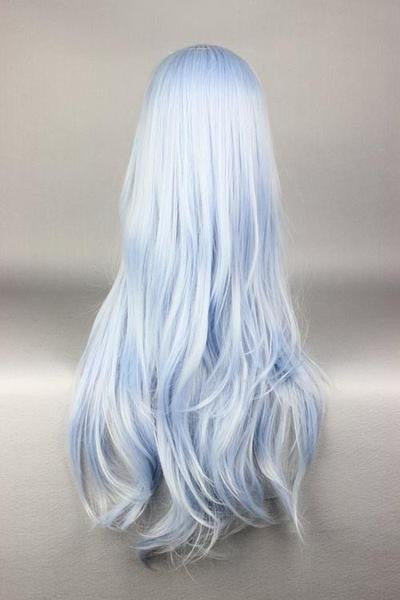 75cm Long Light Blue Cosplay Anime Kantai Collection:KanColle Hibiki Wig,Colorful Candy Colored synthetic Hair Extension Hair piece 1pc WIG-577F - Feedfend - fistcase