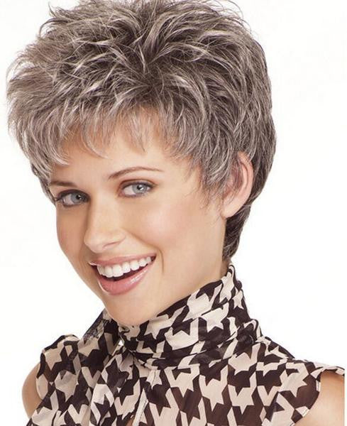 Beautiful Classic short hair 100% Kanekalon Fiber Synthetic women Wig High quality fashion lady Wig W2086