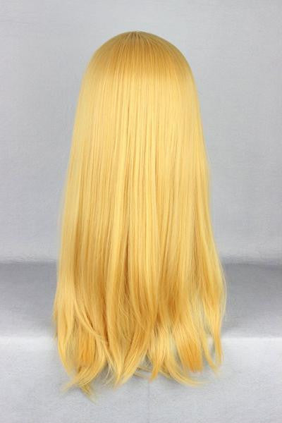 Attack on Titan Krista Lenz 55cm Long Yellow Blonde Synthetic Cute Cosplay Wig,Colorful Candy Colored synthetic Hair Extension Hair piece 1pc Beyonce's Hairstyle WIG-365F