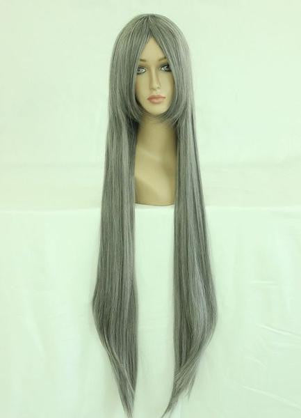 80cm LONG WIG Changan unreal night Gray Cosplay Costume Wig,Colorful Candy Colored synthetic Hair Extension Hair piece 1pc WIG-017A - Feedfend - fistcase