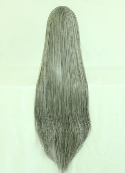 80cm LONG WIG Changan unreal night Gray Cosplay Costume Wig,Colorful Candy Colored synthetic Hair Extension Hair piece 1pc WIG-017A