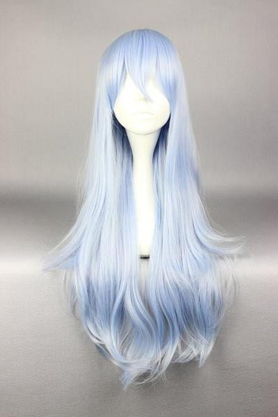 75cm Long Light Blue Cosplay Anime Kantai Collection:KanColle Hibiki Wig,Colorful Candy Colored synthetic Hair Extension Hair piece 1pc WIG-577F - Feedfend