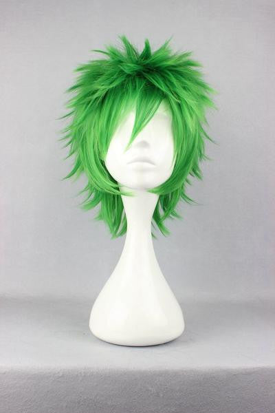 Anime Cosplay Kosuke Ueki 32cm Synthetic Short Green Wig,Colorful Candy Colored synthetic Hair Extension Hair piece 1pc WIG-258A - Feedfend - fistcase