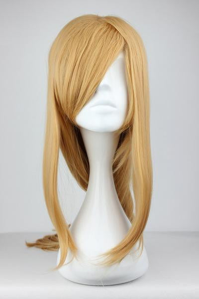 90cm Long Blonde Synthetic Anime Cosplay Sword Art Online -Asuna Yuuki Wig,Colorful Candy Colored synthetic Hair Extension Hair piece 1pc WIG-217D