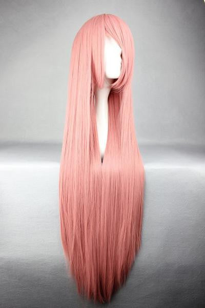 Straight Smoke Pink Popular Cosplay Wig - Feedfend - fistcase