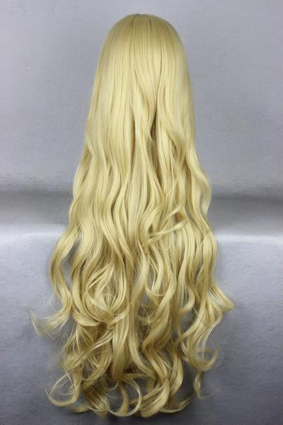 80cm Long Golden Cosplay Anime angel sanctuary-Rosielsynthetic heat resistant fiber Long Blonde Wig,Colorful Candy Colored synthetic Hair Extension Hair piece 1pc CodeGeass-Nunnally Vi Britannia WIG-207H - Feedfend - fistcase