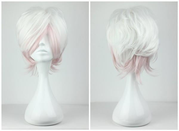 32cm short Multi Color Pink Mix White Promotion Anime Diabolik Lovers Short cosplay wig,Colorful Candy Colored synthetic Hair Extension Hair piece 1pc WIG-199C - Feedfend - fistcase