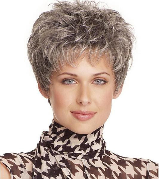 Beautiful Classic short hair 100% Kanekalon Fiber Synthetic women Wig High quality fashion lady Wig W2086 - Feedfend - fistcase