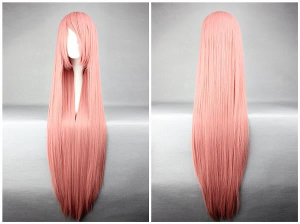 Straight Smoke Pink Popular Cosplay Wig - Feedfend