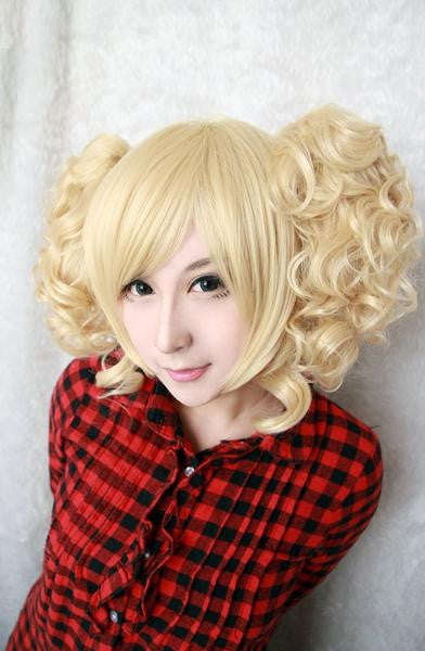 Heat Resistant Curly Light Golden Wig - Feedfend - fistcase