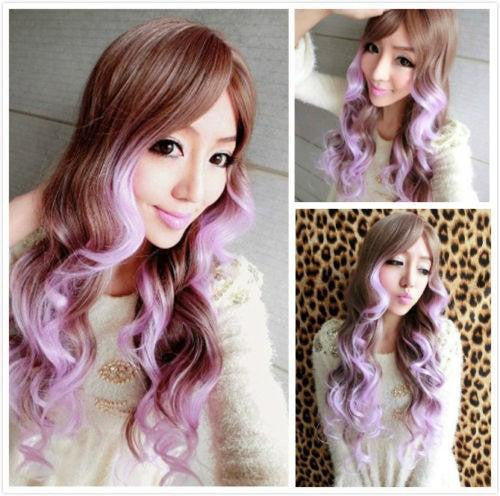 Women Wavy Hair Light Brown Wig - Feedfend