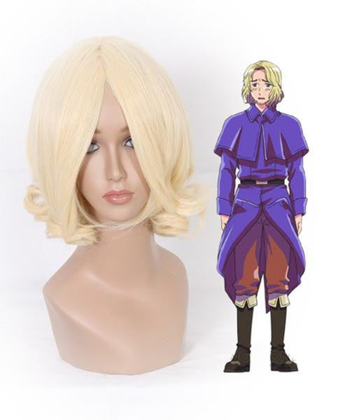 APH France Francis Bonnefoy Hetalia Halloween Cosplay Wavy Blonde Short Bob Wigs,Colorful Candy Colored synthetic Hair Extension Hair piece 1pc WIG-004A - Feedfend