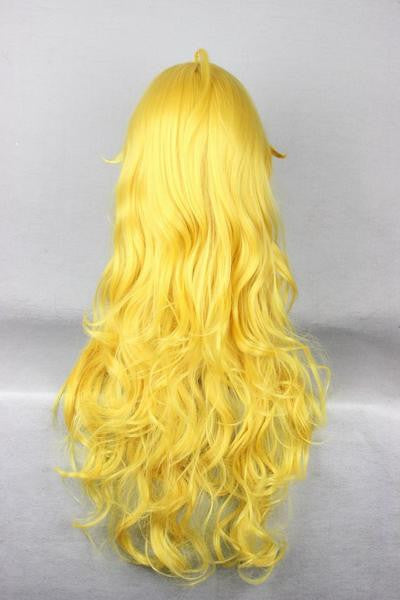 Anime Cosplay RWBY Yang Xiao Synthetic Curly Long Yellow Wig,New Highlight Ombre Colorful Candy Colored synthetic Hair Extension Hair piece 1pc WIG-011D - Feedfend