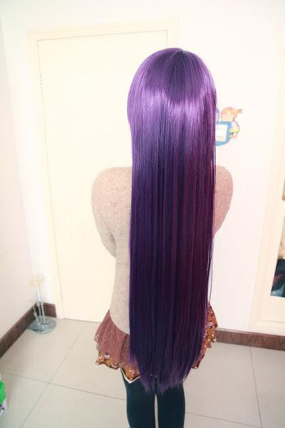 Deep Purple Synthetic Anime Cosplay Wig - Feedfend