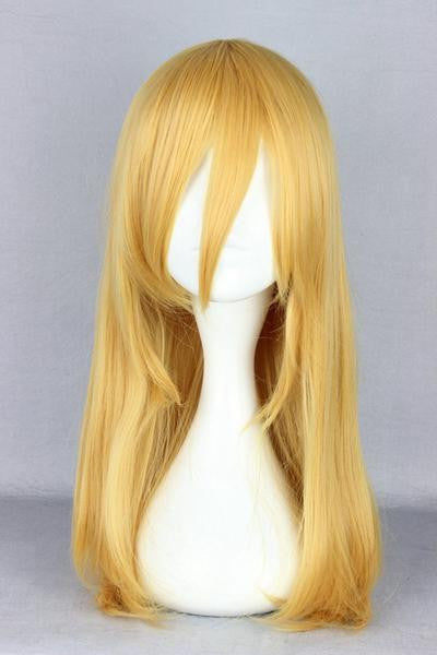 Attack on Titan Krista Lenz 55cm Long Yellow Blonde Synthetic Cute Cosplay Wig,Colorful Candy Colored synthetic Hair Extension Hair piece 1pc Beyonce's Hairstyle WIG-365F - Feedfend - fistcase