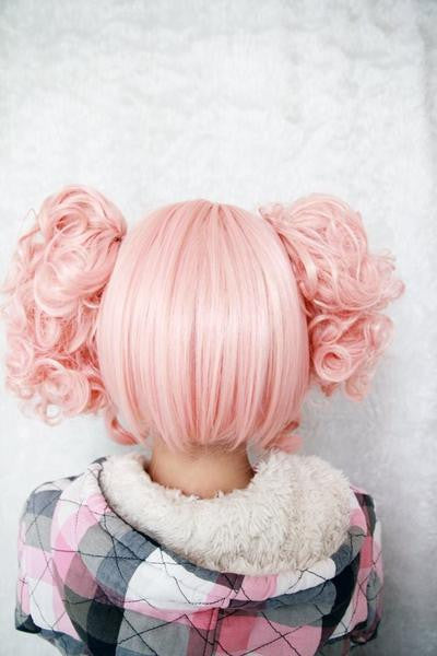 35cm Short Pink Cute Girls Wig - Feedfend - fistcase
