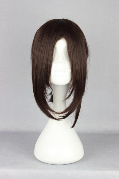 38CM short brown cosplay wig Attack on Titan-Hanji Zoe synthetic Anime Cosplay wig,Colorful Candy Colored synthetic Hair Extension Hair piece 1pc WIG-365G