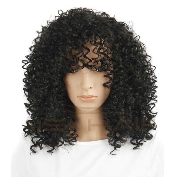 Short Black Synthetic Wigs