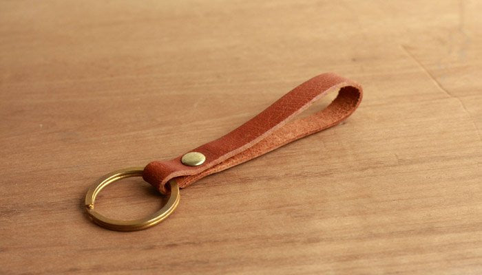 Handcrafted Leather Keychain