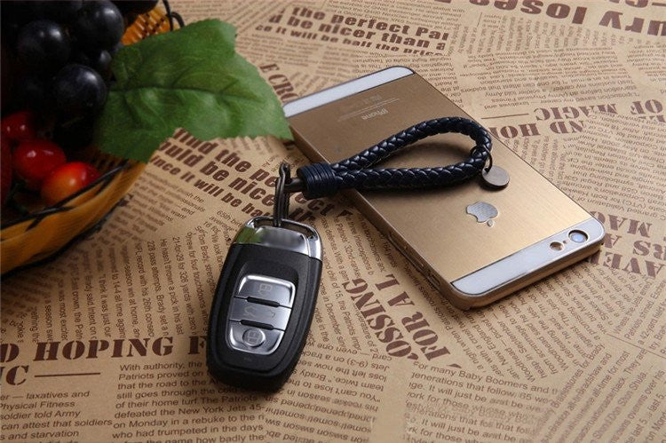 Luxury Braided Leather Keychain - Feedfend - fistcase