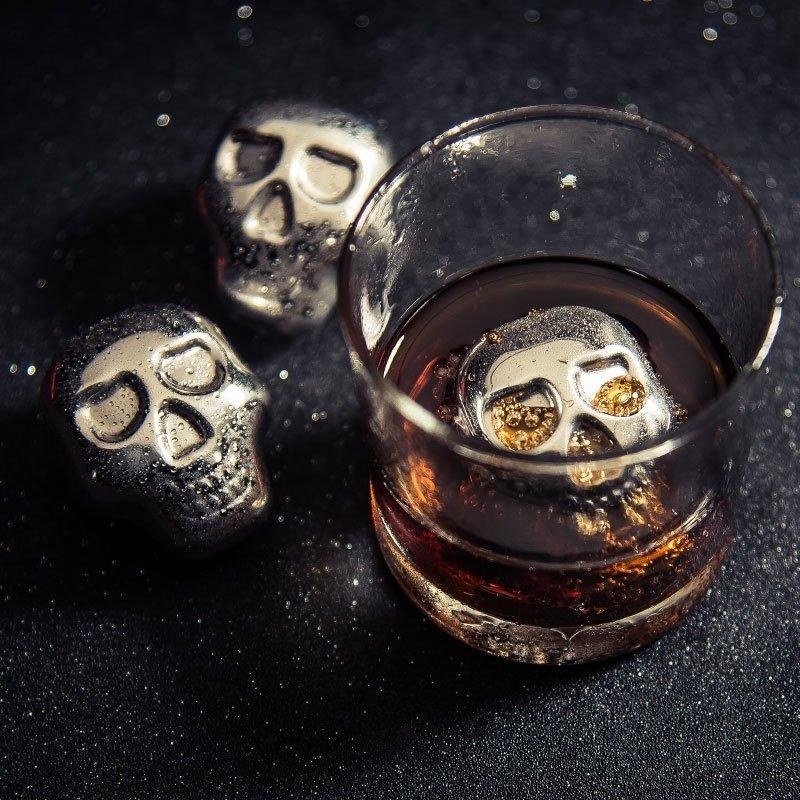 4 Skull Whiskey Ice Cubes - Feedfend - fistcase