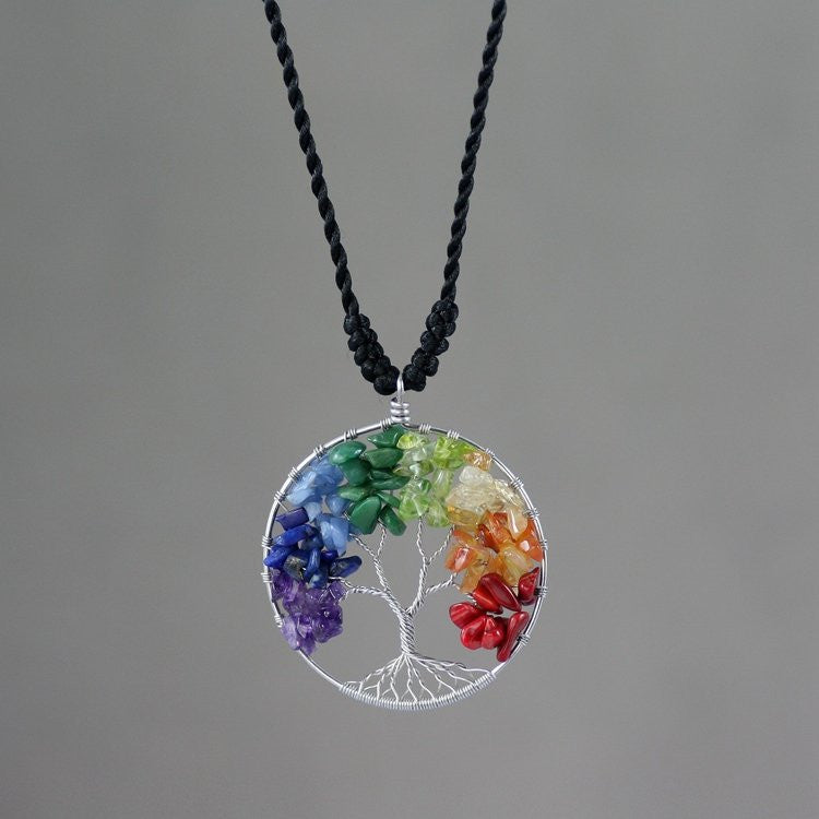 Tree of Life Rainbow Necklace - Feedfend - fistcase