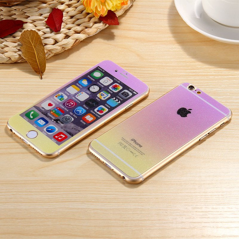 9H iPhone Color Changing Sticker Set