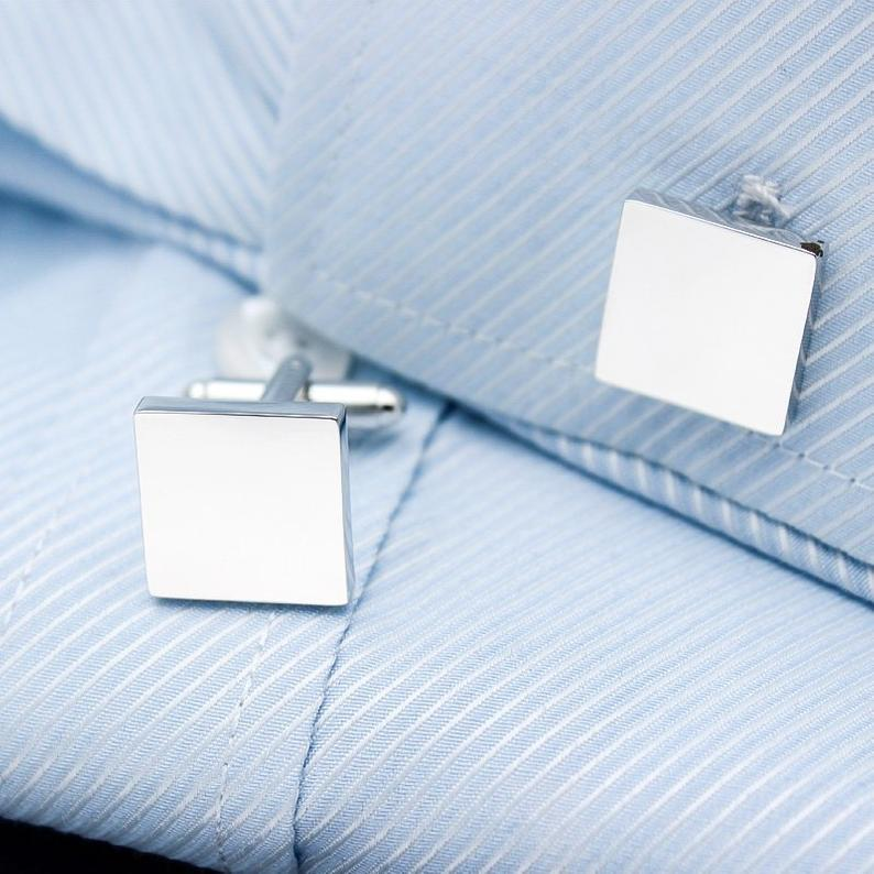 Custom Iron Slice Cufflinks