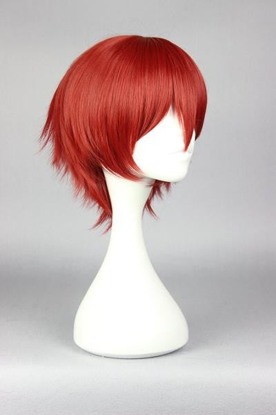 30cm short dark red cosplay wig for handsome man new arrival Japanese cartoon Assassination Classroom-Akabane Karuma cosplay wig,Colorful Candy Colored synthetic Hair Extension Hair piece 1pcs WIG-575B - Feedfend