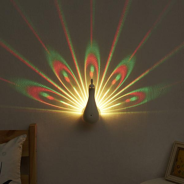 Peacock LED Projection Light - Feedfend - fistcase