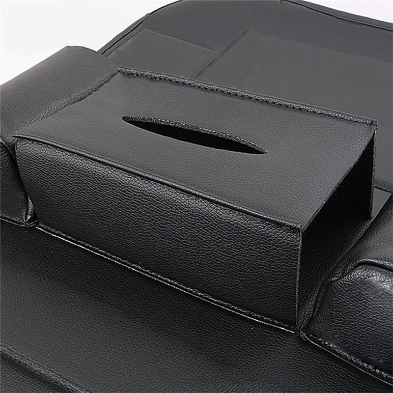 Car Organizer Car Seat Back Storage Bag Travel Box Multi-pocket PU Leather Backseat Hanger Auto Accessories Interior Stowing - Feedfend - fistcase